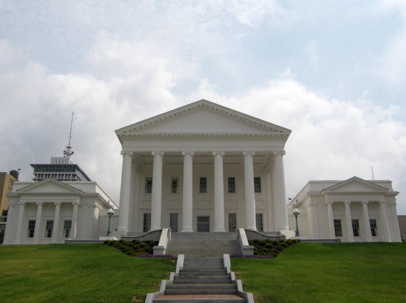 The Virginia State Capitol Building The Most Visible